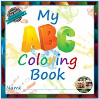 Alphabet Letters and Coloring Book