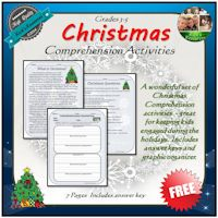 Free Christmas Comprehension Activities