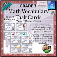 Math Vocab Task Cards Grade 3