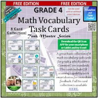 FREE Math Vocabulary Task Cards