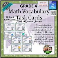 Math Vocab. Task Cards Grade 4