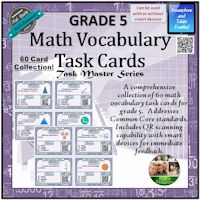 Math Vocab. Task Cards Grade 5