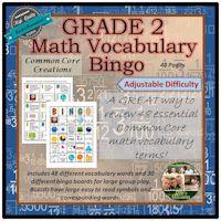 Grade 2 Math Bingo