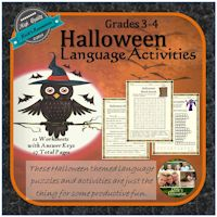 Halloween Language Activities.