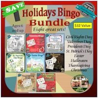 Holidays Bingo Bundle 8 Sets