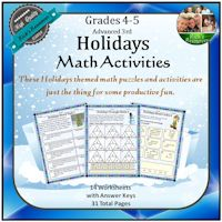 Holidays Math Activities