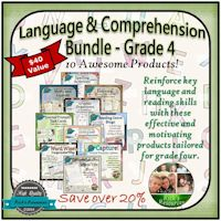 Grade 4 Language and Comprehension Bundle