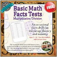 Multiplication and Division Facts Drill Tests