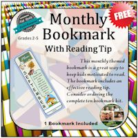 Free Monthly Bookmark