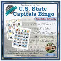 U.S. State Capitals Bingo Game