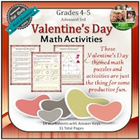 Valentine's Day Math Activities