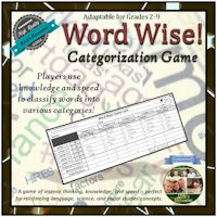 Word Wise Categorization Game